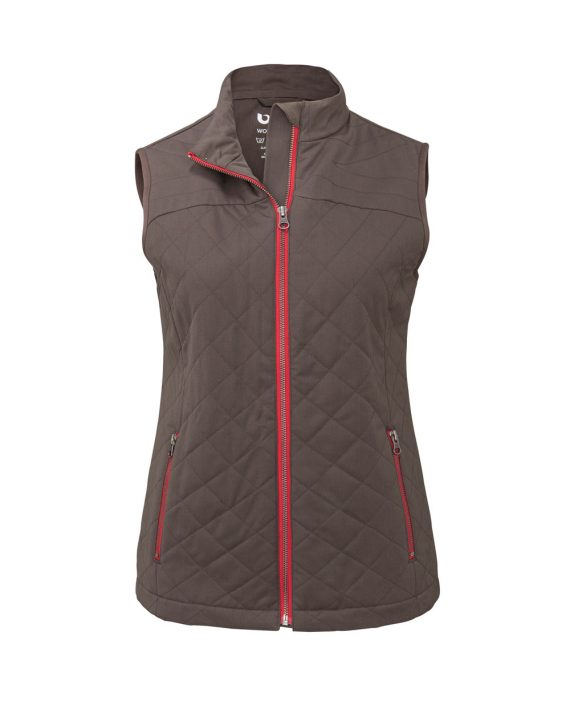 Womens Puffer Vest Dark Tan